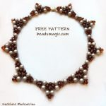 Free pattern for necklace Mochaccino
