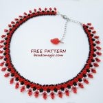 Free pattern for necklace Alcea
